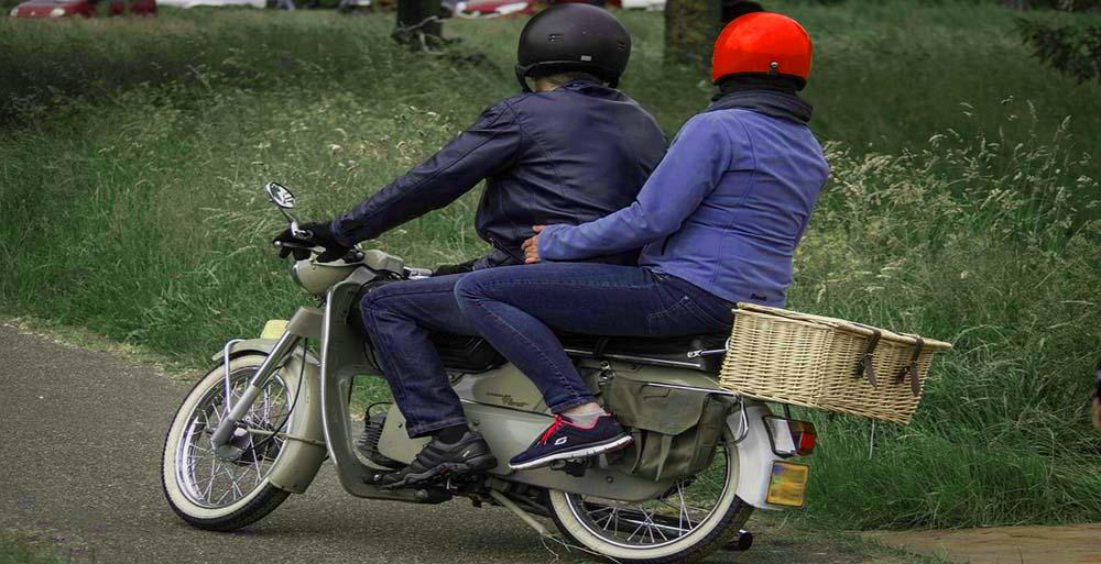 double helmets for bike passengers